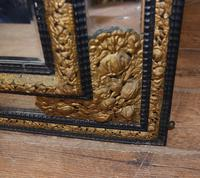 Antique French Cushion Mirror Metal Mounts Circa 1880 (8 of 11)
