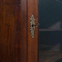 Antique Corner Cabinet, English, Oak, Flame Mahogany, Cupboard, Georgian c.1800 (9 of 12)
