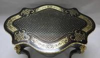 French Napoleon III Ebony and Inlaid Bureau Plat by Millet (3 of 11)