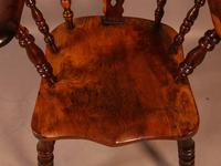 Superb Yew Wood Broad Arm Windsor Chair Worksop maker (5 of 5)