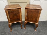Pair of Burr Walnut Queen Anne Bedside Cupboards (2 of 15)