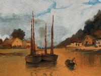 Wonderful Original 19th Century Antique Seascape Landscape Watercolour Painting (9 of 12)