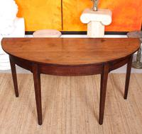 Georgian Demi Lune Console Table Mahogany Carved Hall Table (2 of 5)