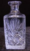 Vintage Cut Glass Square Decanter (6 of 7)