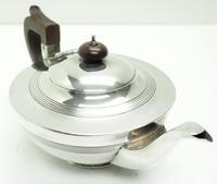 Solid Silver Tea Pot & Sugar Bowl Art Deco Silver Tea Pot (6 of 7)