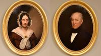"""Oil Painting by English School """"Portraits of a Lady & Gentleman"""""""