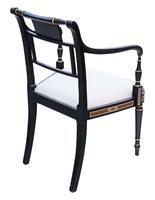Regency Ebonised Elbow / Carver / Desk Chair (5 of 6)