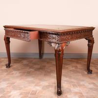Superb Quality Mahogany Chippendale Design Writing Table (20 of 23)