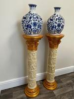 Dutch Golden Age Style Gilt Harvest Relief Plinth Display Torcheres (6 of 87)