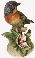 A Porcelain figure of a Paula Warbler by Andrea by Sadek. (6 of 6)