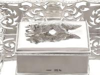 Sterling Silver Gallery Inkstand - Antique Victorian 1898 (5 of 9)