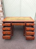 Antique Walnut Pedestal Writing Desk (9 of 13)
