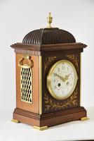 Brass Inlaid Mahogany Bracket Clock (2 of 5)