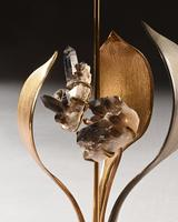 Impressive 1970 Gilt Bronze and Quartz Lamp by Willy Daro (6 of 10)