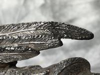Antique Victorian Silver Plate Crane Bird Inkwell Stand After James Deakin (9 of 37)