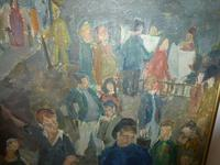 Scottish 1940s Wartime Oil Painting (2 of 7)