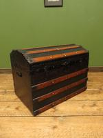 Antique Dome Top Pirates Trunk Storage Chest (3 of 12)