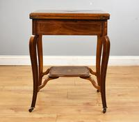 Victorian Rosewood Envelope Card Table (4 of 12)