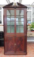 Mahogany Flame Astral Glazed Corner Cupboard 1780 (10 of 10)