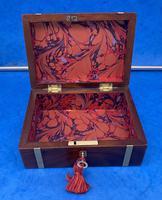 Georgian Solid Mahogany Brassbound Miniature Campaign Box (8 of 9)
