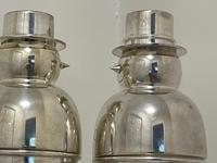 Pair of Decorative Art Deco Style Silver Snowmen Cocktail Shakers (17 of 42)