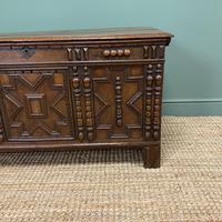 17th Century Oak Geometric Moulded Antique Coffer (3 of 7)