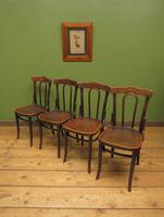 Four Antique Polish Thonet Style Bentwood Bistro Chairs with Pressed Seats (17 of 22)
