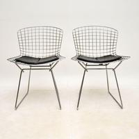 Pair of Vintage Wire Chairs by Harry Bertoia (2 of 10)