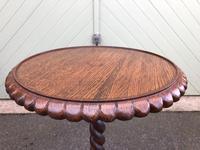 Antique Oak Tripod Wine Table (5 of 6)
