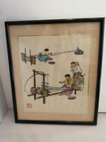Lovely Quality 19th Century Chinese Watercolour (5 of 5)