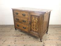 Antique Oak Arts & Crafts Marble Top Cupboard (10 of 12)