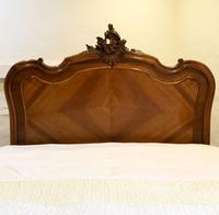 Beaded Louis XV Walnut Antique Bed (6 of 7)