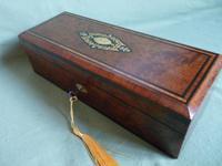 French Inlaid Amboyna Glove / Desk Box c.1870 (10 of 10)