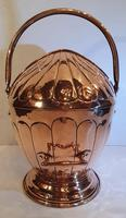 19th Century Polished Copper Helmet Coal Scuttle (3 of 4)