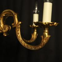 French Gilded Bronze 5 Light Antique Chandelier (6 of 6)