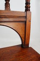 Late Victorian Oak Hall Chair (12 of 13)