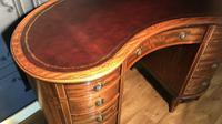 Edwardian Inlaid Mahogany Kidney Shaped Desk (8 of 21)