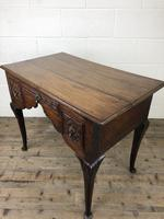 Antique 19th Century Carved Oak Lowboy Side Table (6 of 17)