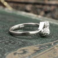 The Toi Et Moi Dial Old European Cut Vintage Diamond Ring (4 of 7)