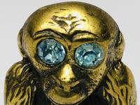 Small Brass Monkey Vesta Match Holder With Glass Eyes (3 of 17)