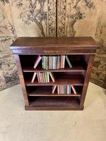 English 19th Century Mahogany Open Bookcase (2 of 5)