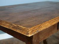 19th Century Single-Drawer Serpentine Stretcher Dining Table (2 of 8)