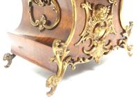 Magnificent French 8-day Mantle Clock Walnut Boulle Striking Mantle Clock (7 of 11)