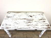 Distressed White Painted Victorian Pine Table (6 of 8)