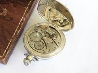 Antique Silver Revue Half Hunter Pocket Watch (4 of 5)