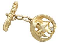 18ct Yellow Gold 'Bird' Cufflinks - Antique c.1900 (6 of 9)