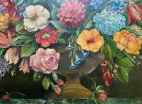 An Extraordinary Original 1952 Vintage French Still Life Of Flowers Oil Painting (3 of 11)