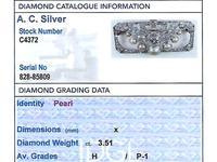 3.51ct Diamond & Pearl, Platinum Brooch - Art Deco c.1930 (8 of 9)