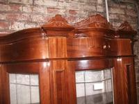 Ornate Italian Style Inlaid Display Cabinet on Cupboard Base (2 of 4)