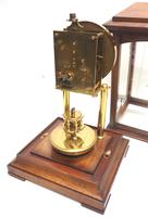 Rare Gustav Becker 400-day Torsion Clock German Mantel Clock Mahogany & Bevelled Glass Case (9 of 13)